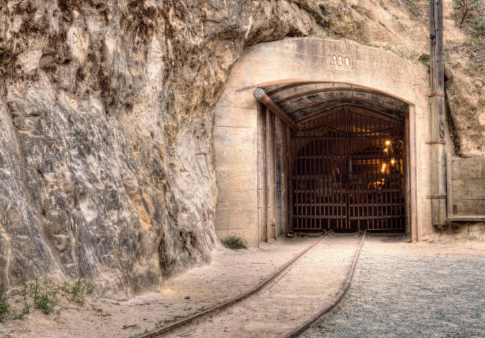 The tunnel into the mountain.