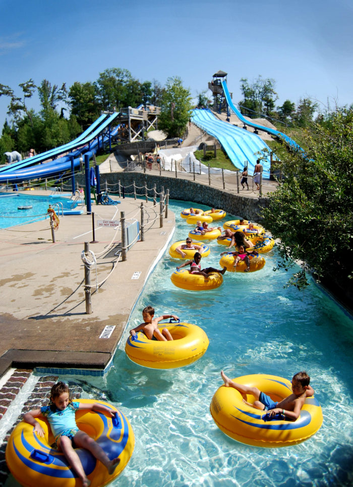 Inside of our Adirondack Park in Old Forge, you'll find New York's largest water theme park!