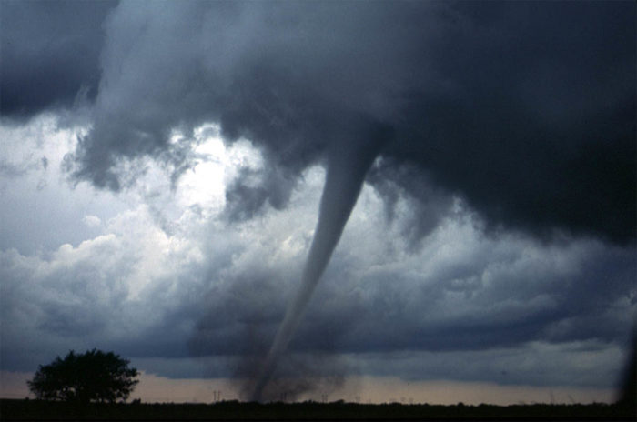 3. You've scoped out a prime spot for tornado watching.