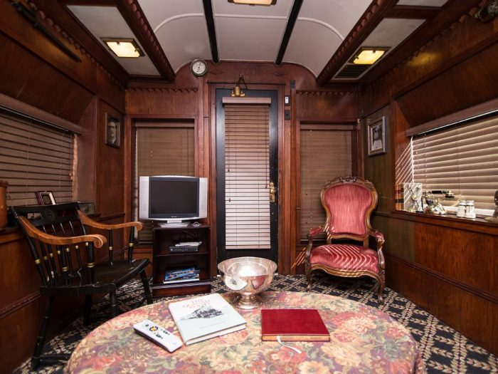 Luckily, the current owners have made some major renovations to the inside and transformed it from an industrial, cold locomotive to a cozy, romantic cottage on wheels.