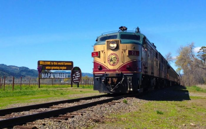 The Napa Valley Wine Train offers 3-hour, 36-mile round-trip journeys that take you between Downtown Napa and the upscale village of St. Helena.