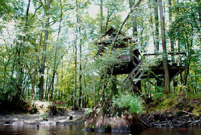 """The Edisto River treehouses were ranked among the """"Top 10 Ten Treehouses in the World"""" by USA Today in 2015."""