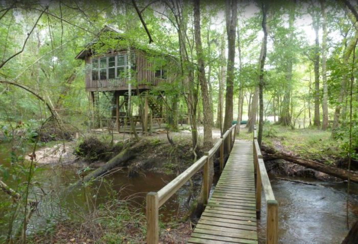 Carolina Heritage Outfitters owns the treehouses and keeps them stocked with pretty much everything you'll need, except food and beverages.