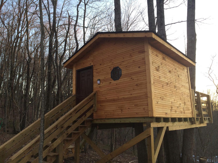 """You have the option of a basic or an """"ultimate"""" treehouse."""