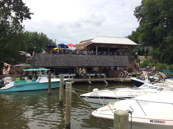 Or you can also arrive by boat. Cantler's Riverside Inn is known as the place where the watermen gather, for this reason.