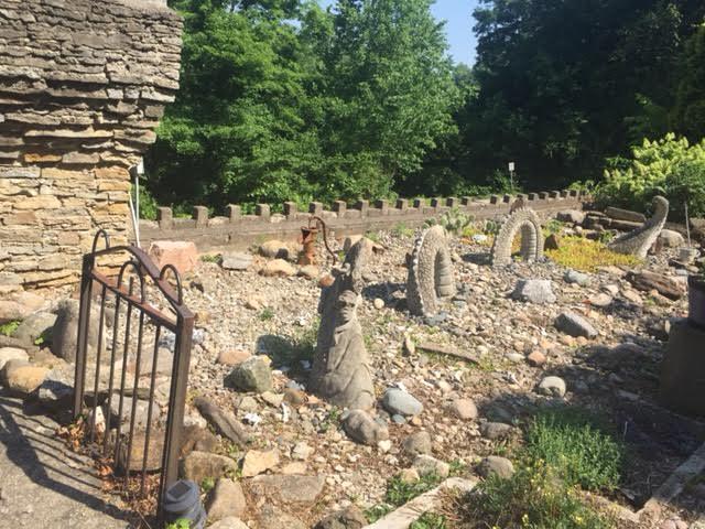 ...a stone dragon...