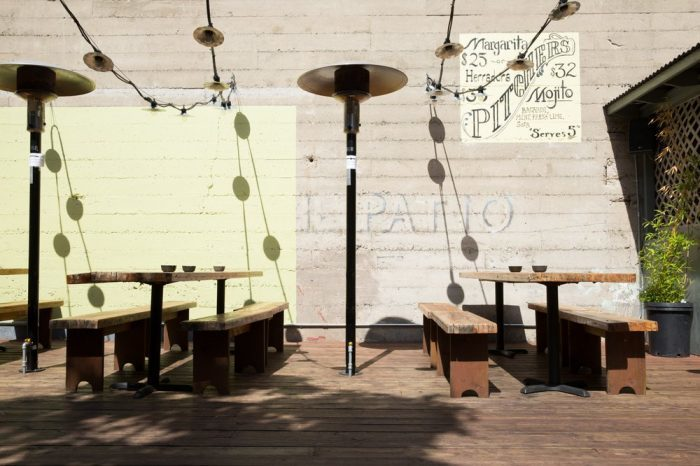 3. An Amazing Outdoor Patio For Food & Drinks