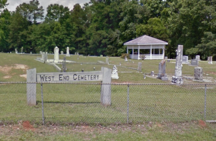 12. West End Cemetery in Newberry.