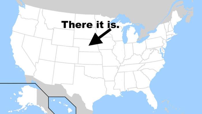 1. Ask us where Nebraska is.
