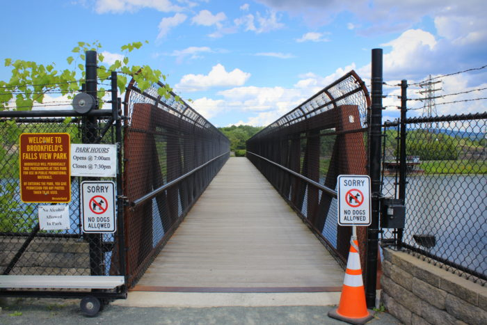 After crossing the street, you'll have to make your way across the 192-foot bridge to explore Falls View Park.