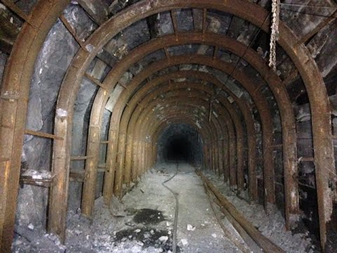This silver, zinc, and copper mine closed in the 1990s. The explorers had to walk over 4,100 feet in the near-darkness in order to reach the deepest part of the mine.
