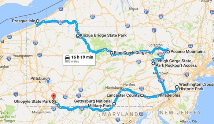 Take This Epic Fall Foliage Road Trip In Pennsylvania