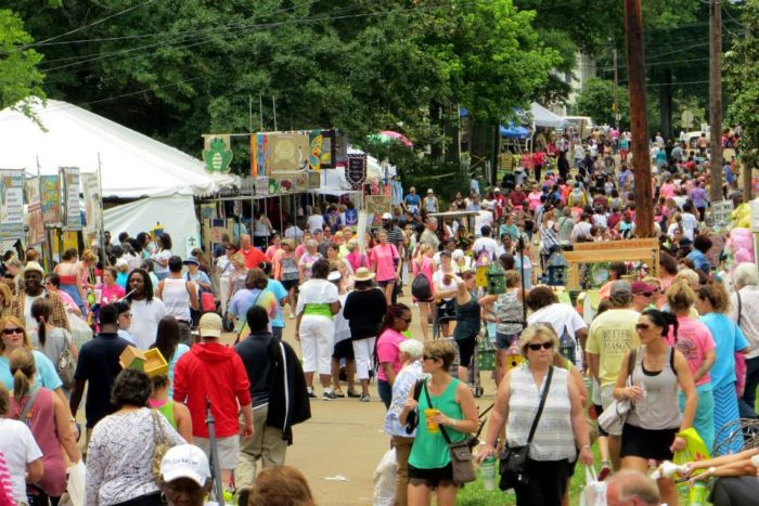 The giant flea market is located at 3332 N. Liberty Street in Canton. It is held twice a year on the second Thursday of May and October, from 8 am – 5 pm.