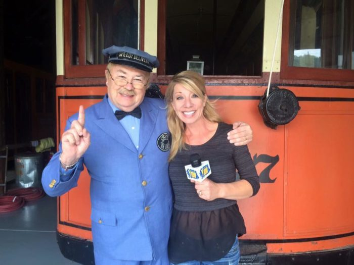 The Easter Bunny and Pittsburgh's most popular mailman, Mr. McFeely, with whom generations of Pittsburghers grew up.