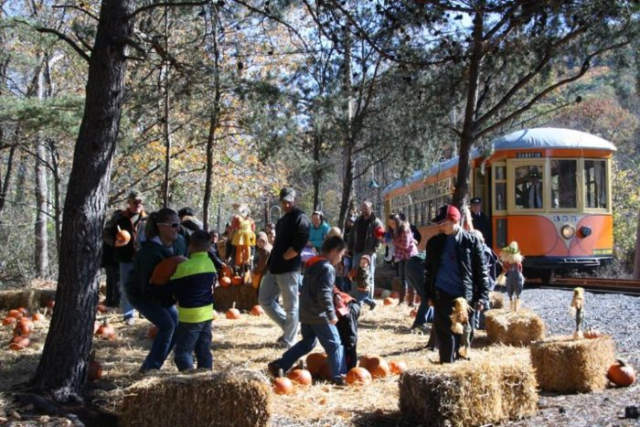 Embrace the shorter autumn days with a visit to the trolley museum. Pick pumpkins at the pumpkin patch before boarding your trolley on October 15 and 16.