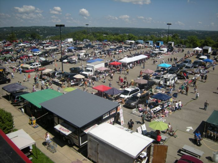 Bargain hunters and vendors flock to Rossi's Pop-Up Market in North Versailles, open Saturdays and Sundays from 8 a.m. to 3 p.m., all year around. The outdoor flea market runs from March through November.