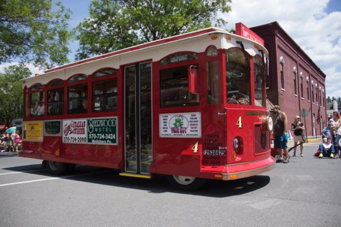 Add that small town charm with the close proximity to Pine Creek Gorge and you've found the perfect destination for an autumn day trip. Start your tour of Wellsboro aboard one of Tony's Tioga Trolley Tours' old-fashioned trolleys.