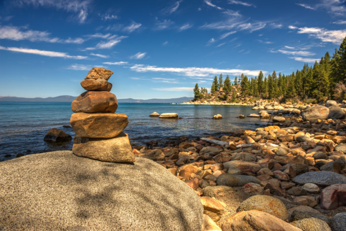 blue water lake tahoe nevada