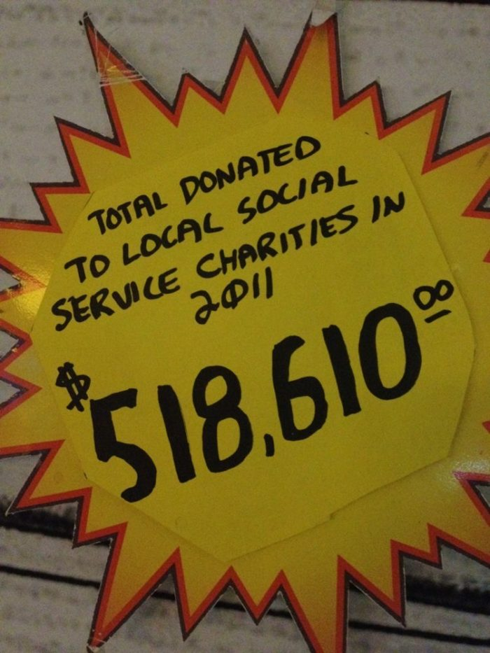 By the way, since the Pinball Hall of Fame is a non-profit, excess revenues go to non-denominational charities.