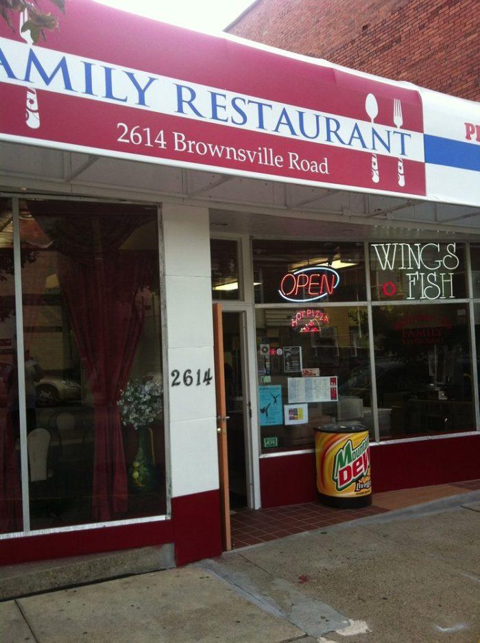 10. Family Restaurant – 2614 Brownsville Road