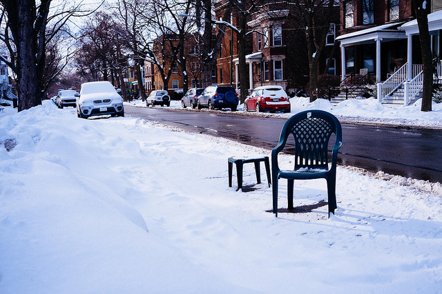 10. Save your parking space with a chair.