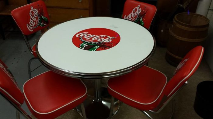 Check out this Coca-Cola table.