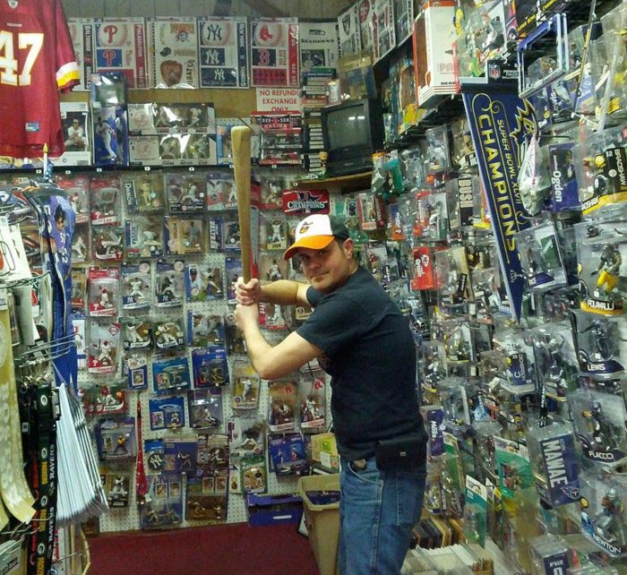 Dave has been running the best sports and collectibles store in the state for years.