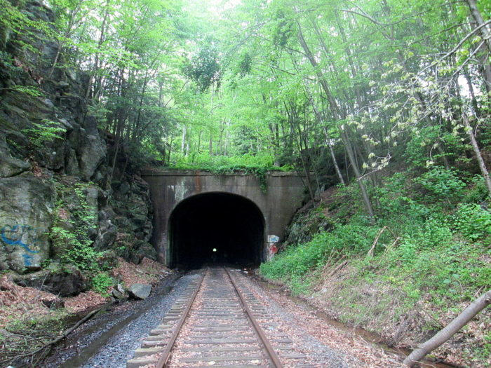 The Pequabuck Tunnel is located in Plymouth.