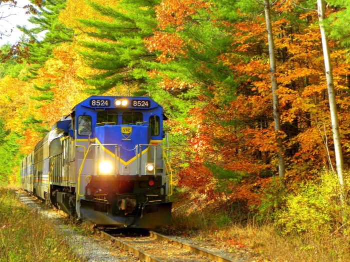 The most popular fall colors excursion is the scenic round trip to Odell. This train will lead you through colorful forests and past bucolic orchards and vineyards with breathtaking mountain views.