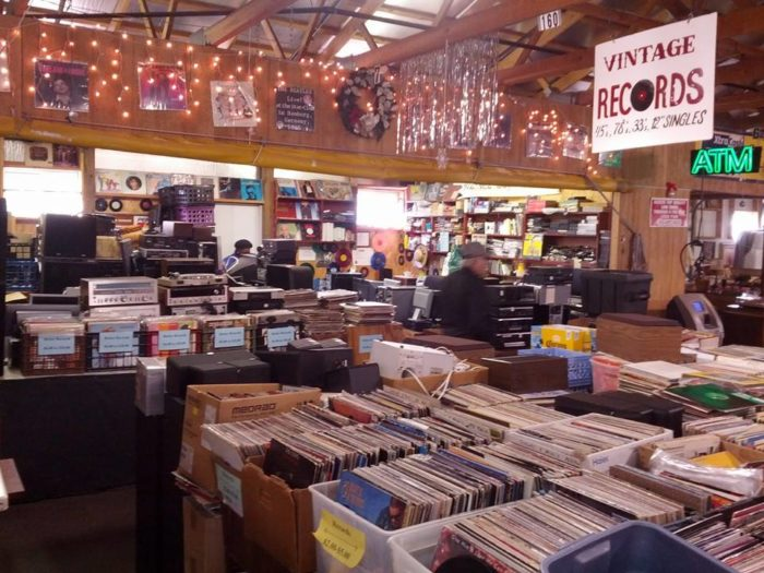 And of course, what flea market would be complete without a great vinyl collection?