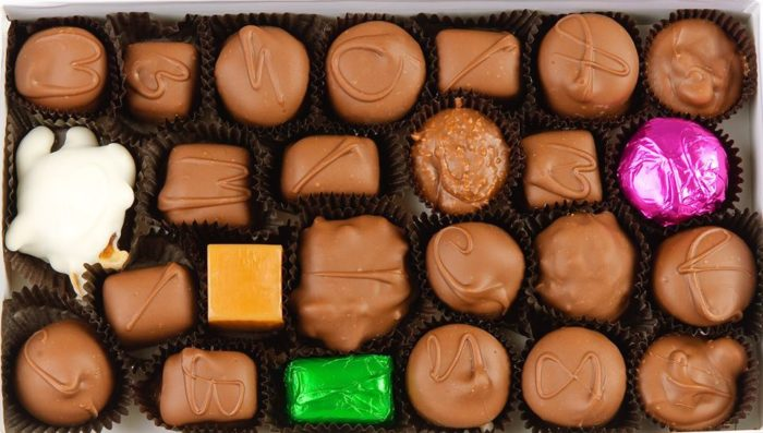 You can also choose from a variety of boxed chocolates.
