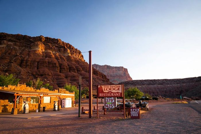 That location is Cliff Dwellers Restaurant, one of the few restaurants you will find in the remote Arizona Strip and is part of a 60-year-old lodge for local travelers.