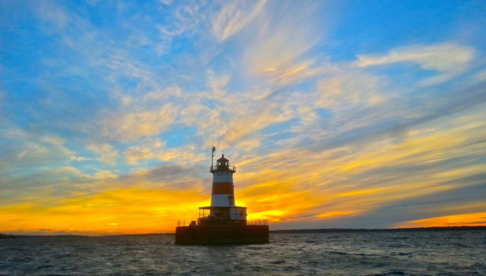 This incredible lighthouse is located at the mouth of the Taunton River.