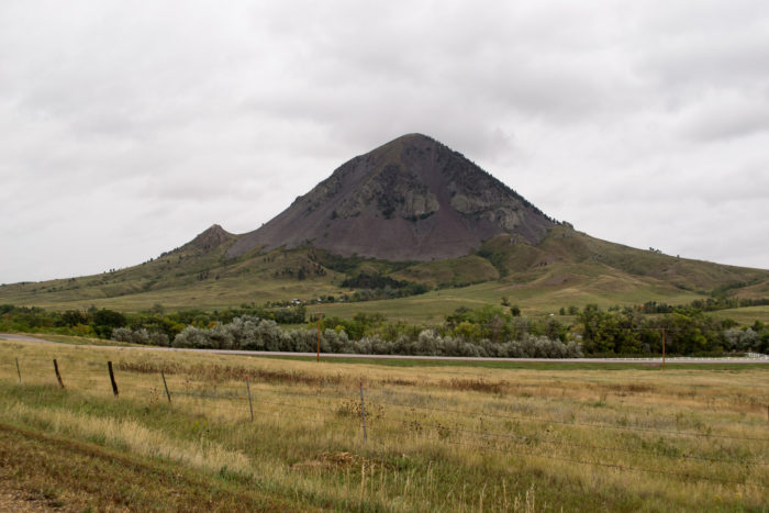 9. This lonely, gigantic laccolith named Bear Butte, near Sturgis