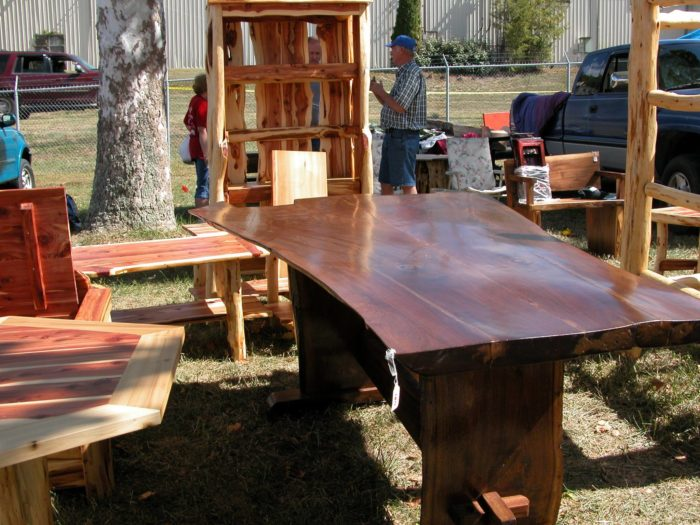 You'll also find some one-of-kind furniture pieces...