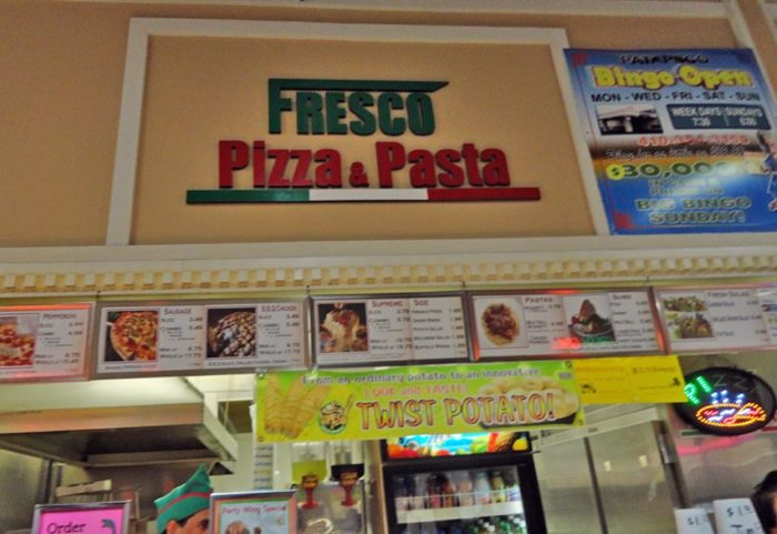 If you're feeling famished, head to the food court where you can grab a slice of pizza or a sandwich.
