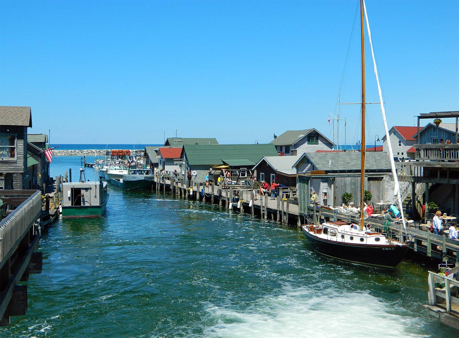 This michigan fishing town is historic and nostalgic for Good fishing areas near me