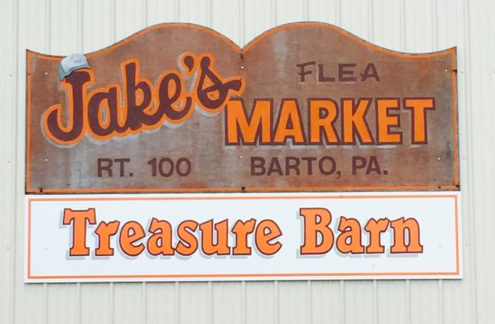 Keep your eyes peeled for the sea of vehicles that alerts you that you've arrived to Jake's Flea Market, located at 1380 Route 100 in Barto.