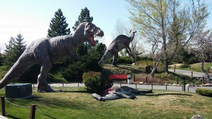 Dinosaurs get a facelift every spring, with new paint.