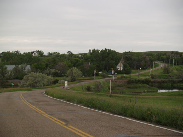 8. The winding County Road 84 through Judson, North Dakota