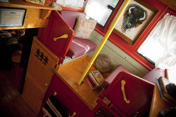 Despite the comfortable refurbishing, you'll never forget you're staying in a train.