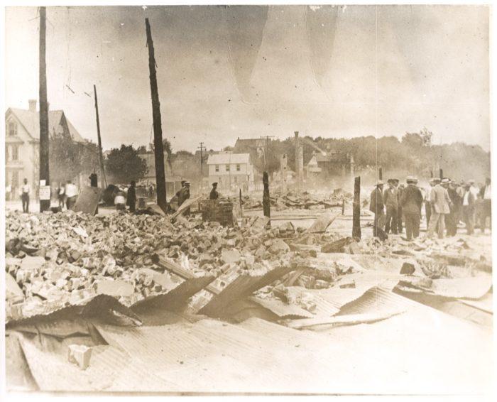 8. The Milton Fire, 1909