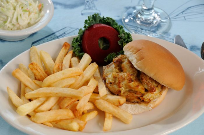You can't eat at an island restaurant in Maryland without ordering crab cakes, right? Old Salty's crab cakes receive rave reviews time and time again.