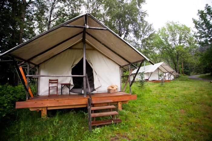 Consider staying overnight at River Dance Lodge.