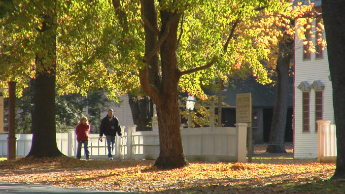 One of the best places for leaf-peeping in town is around the Dwight House, which was built around 1795.
