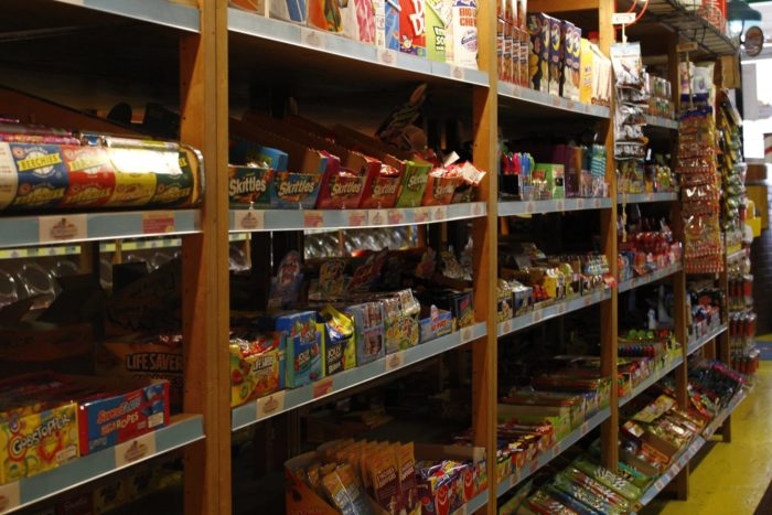 In addition to tons and tons of candy, you'll find retro memorabilia all throughout the store. Mannequins, toys, and antique fixtures are everywhere you look.