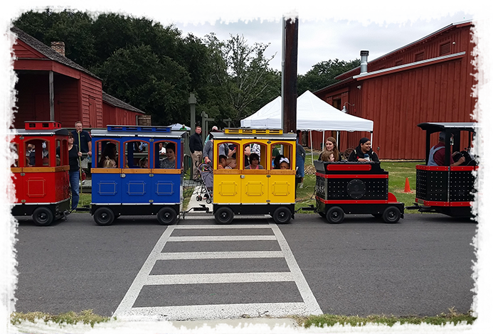 Plus, there is a mini train ride and carousel rides available to make the party even more awesome.