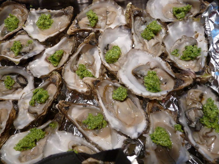 1. Oysters Persillade