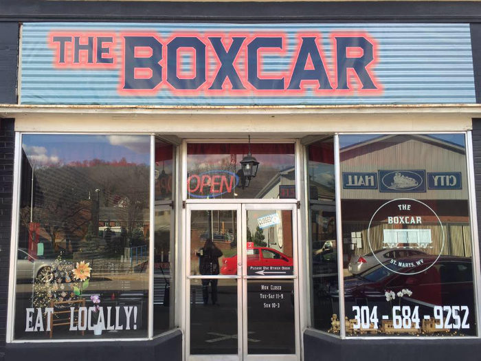 If you visit St. Marys, check out The Boxcar, a railroad-themed restaurant.
