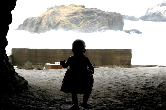 """The haunted and unexplained activities or ghosts reenact the heyday of the Sutro Baths, most often at night. Psychic mediums note that while visiting Sutro Baths they have felt an """"unnerving force."""" Note: this baby is not a ghost... we don't think!"""